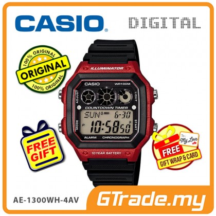 [READY STOCK] CASIO STANDARD AE-1300WH-4AV Digital Watch | 10Y Batt. Interval.T
