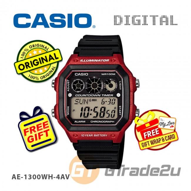 [READY STOCK] CASIO STANDARD AE-1300WH-4AV Digital Watch | 10Y Batt. Interval.T