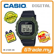 [READY STOCK] CASIO Men W-218H-3A Digital Watch | 50-meter Water Resist. Daily alarm