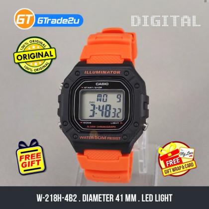 [READY STOCK] CASIO Men W-218H-4B2 Digital Watch   50-meter Water Resist. Daily alarm