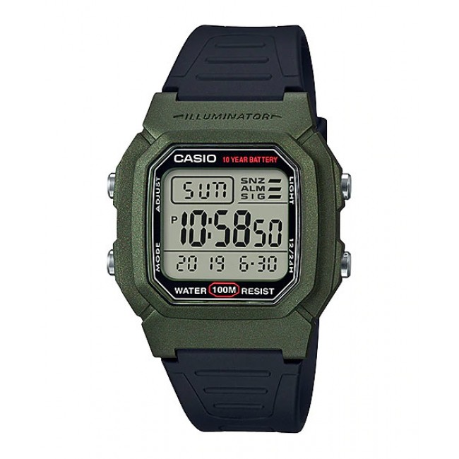 [READY STOCK] CASIO Men W-800HM-3A Digital Watch   Multi alarm 10-YEAR BATTERY