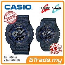 [G-ZONE] CASIO G-SHOCK BABY-G GA-110DC-1A BA-110DC-2A1 Couple Watch Denim Jeans