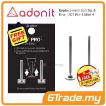 ADONIT Replacement Ball Tip & Disc for Jot Pro 3 Mini 4 Stylus 2 set +Free Gift