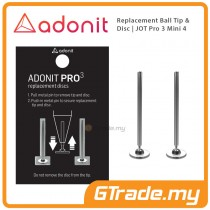 ADONIT Replacement Ball Tip & Disc for Jot Pro 3 Mini 4 Stylus 2 set