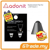 ADONIT Replacement Tip for Jot Dash 3 - Black +Free Gift
