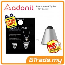 ADONIT Replacement Tip for Jot Dash 3 - Silver +Free Gift