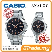 [READY STOCK] CASIO Couple MTP-1308D-1A2 & LTP-1308D-1A2 Analog Watches | Rose Additions