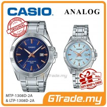 [READY STOCK] CASIO Couple MTP-1308D-2A & LTP-1308D-2A Analog Watches | Rose Additions