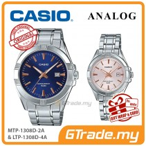 [READY STOCK] CASIO Couple MTP-1308D-2A & LTP-1308D-4A Analog Watches | Rose Additions