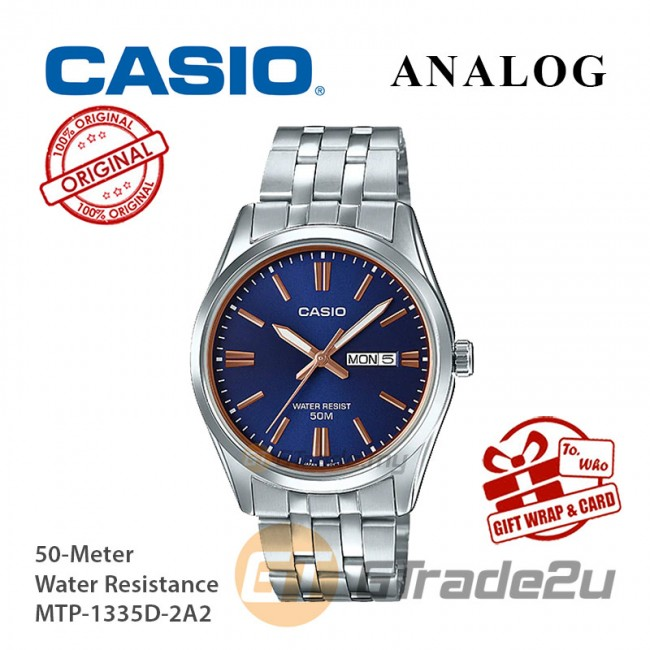[READY STOCK] CASIO MEN MTP-1335D-2A2 Analog Watch | Rose Additions