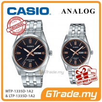 [READY STOCK] CASIO Couple MTP-1335D-1A2 & LTP-1335D-1A2 Analog Watches | Rose Additions