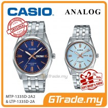 [READY STOCK] CASIO Couple MTP-1335D-2A2 & LTP-1335D-2A Analog Watches | Rose Additions