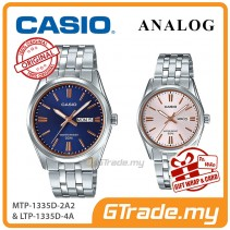 [READY STOCK] CASIO Couple MTP-1335D-2A2 & LTP-1335D-4A Analog Watches | Rose Additions