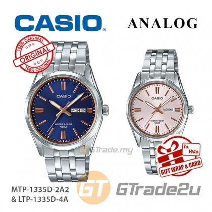 CASIO Couple MTP-1335D-2A2 & LTP-1335D-4A Analog Watches   Rose Additions