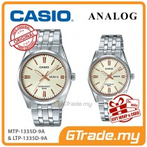 [READY STOCK] CASIO Couple MTP-1335D-9A & LTP-1335D-9A Analog Watches | Rose Additions