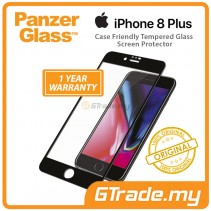 PanzerGlass Case Friendly Tempered Glass Screen Protector |Apple iPhone 8 7 6s Plus Bk