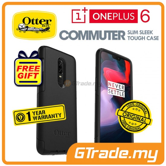 OTTERBOX Commuter Dual Layer Tough Case | Oneplus One Plus 6 Black *Free Gift