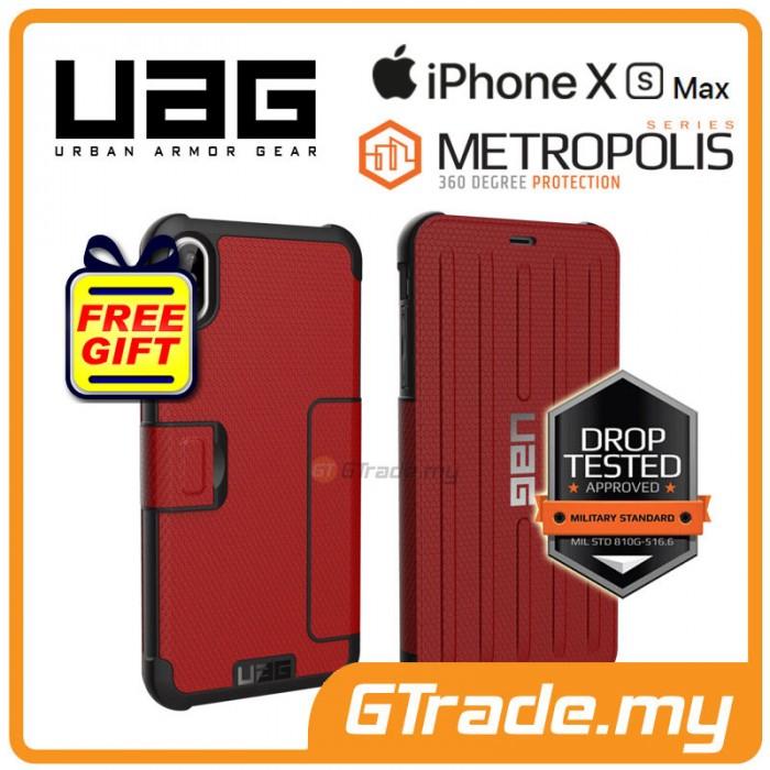 first rate d41cc f85b7 UAG Urban Armor Gear Metropolis Case   Apple iPhone Xs Max - Magma ...
