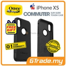 OTTERBOX Commuter Dual Layer Tough Case   Apple iPhone Xs - Black *Free Gift
