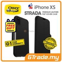 OTTERBOX Strada Folio Premium Leather Case   Apple iPhone Xs - Shadow  *Free Gift