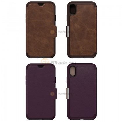 OTTERBOX Strada Folio Premium Leather Case | Apple iPhone Xr - Shadow *Free Gift