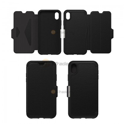 OTTERBOX Strada Folio Premium Leather Case   Apple iPhone Xr - Espresso *Free Gift