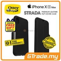 OTTERBOX Strada Folio Premium Leather Case | Apple iPhone XS Max - Shadow *Free Gift