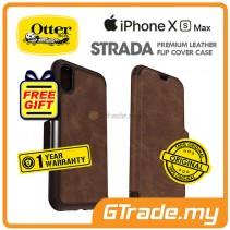 OTTERBOX Strada Folio Premium Leather Case | Apple iPhone XS Max - Espresso *Free Gift