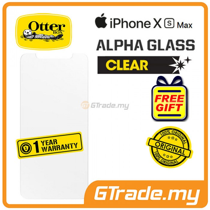 new styles 65315 f7e9b OTTERBOX Alpha Glass Screen Protector | Apple iPhone XS Max *Free Gift