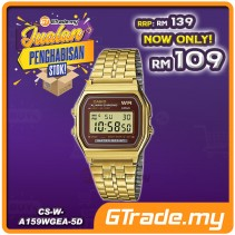 [CLEAR STOCK] CASIO STANDARD A159WGEA-5 Digital Watch | Vintage Alarm Auto Calendar