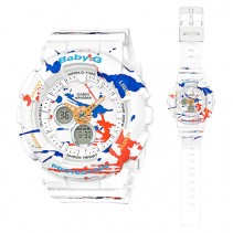 [CLEAR STOCK] CASIO Ladies BABY-G BA-120SPL-7A Digital Watch Street Splatter Design
