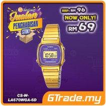 [CLEAR STOCK] CASIO STANDARD LA670WGA-6 Digital Ladies Watch | Gold Retro Alarm