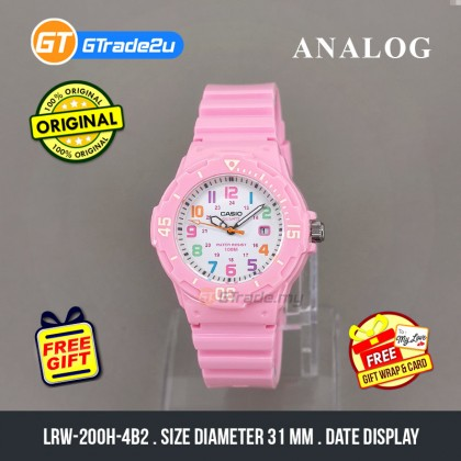 [READY STOCK] CASIO STANDARD LRW-200H-4B2V Analog Ladies Watch | Date Display