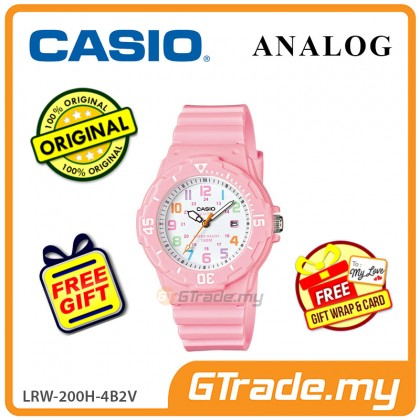 [READY STOCK] CASIO STANDARD LRW-200H-4B2V Analog Ladies Watch   Date Display