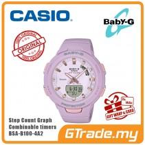 CASIO BABY-G BSA-B100-4A2 Analog Digital Watch | G-squad Phone Linking