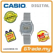 CASIO Women Ladies LA690WEM-7D Digital Watch | Small Petit Steel Mesh Band