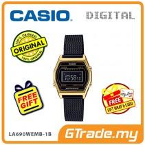 CASIO Women Ladies LA690WEMB-1B Digital Watch | Small Petit Steel Mesh Band