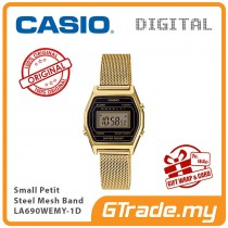 CASIO Women Ladies LA690WEMY-1D Digital Watch | Small Petit Steel Mesh Band