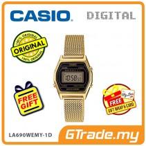 CASIO Women Ladies LA690WEMY-1D Digital Watch | Small Petit Steel Mesh Band