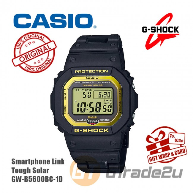 [READY STOCK] CASIO G-SHOCK GW-B5600BC-1D Digital Watch | Stainless Steel Resin Composite Band