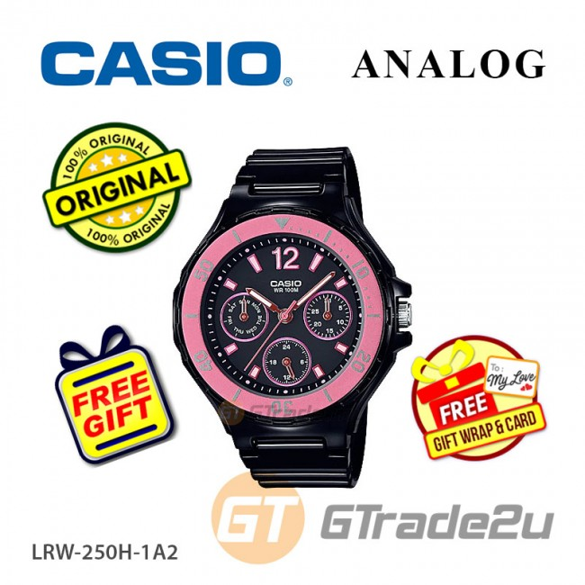 CASIO Women Ladies LRW-250H-1A2 Analog Watch |Fashionable Rotary bezel