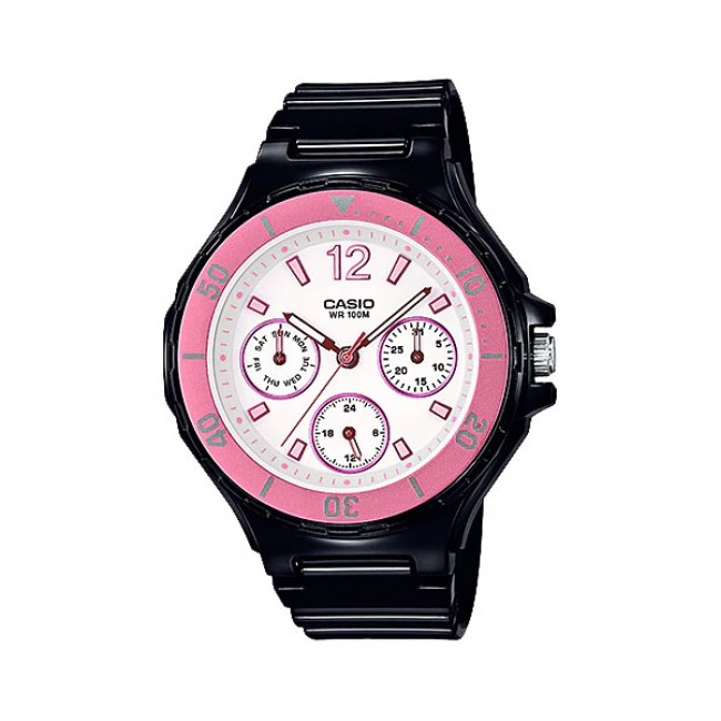 CASIO Women Ladies LRW-250H-1A3 Analog Watch |Fashionable Rotary bezel [PRE]