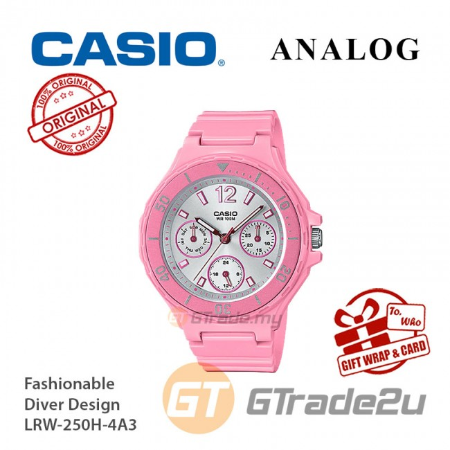 CASIO Women Ladies LRW-250H-4A3 Analog Watch |Fashionable Rotary bezel