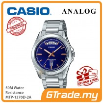 CASIO Men MTP-1370D-2A Analog Watch | Wide Day of the Week Indicator