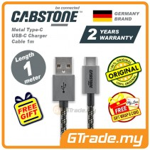 Cabstone Metal Type-C USB-C Charger Cable 1m Samsung Sony Htc  *Free Gift