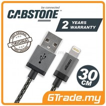 CABSTONE Metal Charger USB Cable Lightning 30cm Apple iPhone iPad Xs Max Xr Air *CBSTR