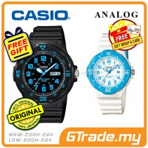 CASIO STANDARD MRW-200H-2BV & LRW-200H-2BV Analog Couple Watch