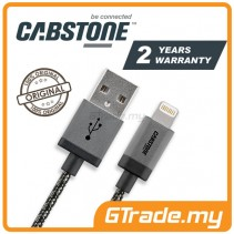 CABSTONE Metal Charger USB Cable Lightning 1m Apple iPhone iPad Xs Max Xr Air *CBSTR