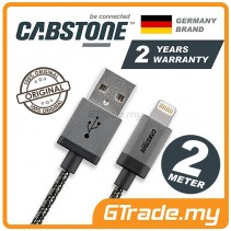 CABSTONE Metal Charger USB Cable Lightning 2m Apple iPhone iPad Xs Max Xr Air *CBSTR