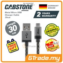 Cabstone Metal Micro USB Charger Cable 30cm Samsung Sony Huawei *Free Gift